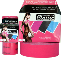 Kinesio Classic Red Tape Gold Individual Roll